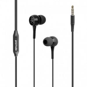 Promate Bent.Black Εργονομικά & Ανθεκτικά Στερεοφωνικά Aκουστικά Ψείρες με Ενσωματωμένο Μικρόφωνο – Μαύρα