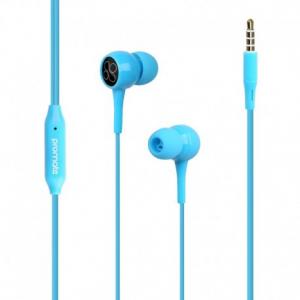 Promate Bent.Blue Εργονομικά & Ανθεκτικά Στερεοφωνικά Aκουστικά Ψείρες με Ενσωματωμένο Μικρόφωνο – Μπλε