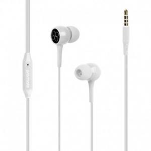Promate Bent.White Εργονομικά & Ανθεκτικά Στερεοφωνικά Aκουστικά Ψείρες με Ενσωματωμένο Μικρόφωνο – Άσπρα
