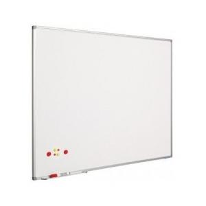 Ασπροπίνακας SMIT-VISUAL μαρκαδόρου, Σμάλτου - Μαγνητικός με πλαίσιο αλουμινίου (coated steel) - 120x150 cm