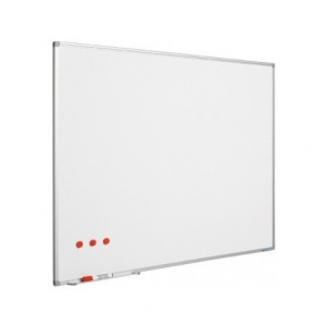 Ασπροπίνακας SMIT-VISUAL μαρκαδόρου, Πορσελάνης - ΜΑΤ - Μαγνητικός με πλαίσιο αλουμινίου (enamel steel) 120x180 cm