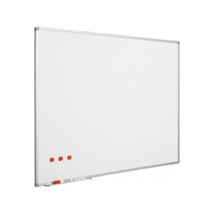 Ασπροπίνακας SMIT-VISUAL μαρκαδόρου, Πορσελάνης - ΜΑΤ - Μαγνητικός με πλαίσιο αλουμινίου (enamel steel) - 120x200 cm