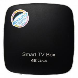 CSA96 RK3399 4G+32G Android TV Box - ΜΑΥΡΟ