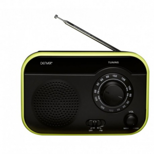 Denver TR-55C black/green FM radio