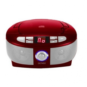 Denver TC-26C Red CD-player boombox