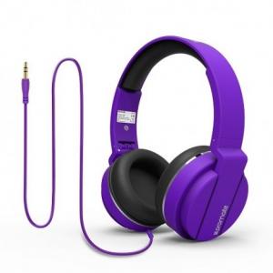 Promate Encore Ενσύρματα Αναδιπλούμενα Ακουστικά Κεφαλής Κλειστού Τύπου - Μωβ