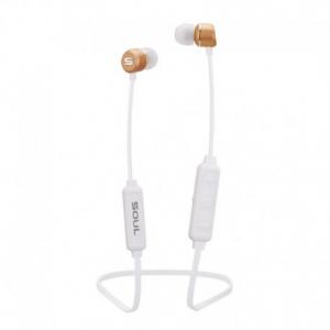 Soul Prime Wireless White - Headphones Bluetooth Ακουστικά ψείρες με μικρόφωνο για MP3/MP4, κινητό τηλέφωνο, Τάμπλετ, Λάπτοπ