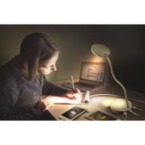 Promate LumiFlex-2 Φωτιστικό LED με PowerBank και 2 Θύρες Φόρτισης USB – Λευκό