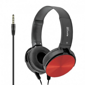 Promate Chime Red - Ενσύρματα Ακουστικά κεφαλής