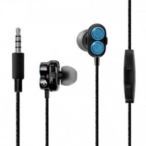 Promate Onyx Ακουστικά με Dual Dynamic Driver - Eνισχυμένα Μπάσα και Υψηλή Ποιότητα Ηχου - Μπλέ