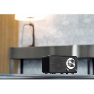 Sangean WR-7 Matt Black (Genuine Mini) - Φορητό Bluetooth Ραδιόφωνο με ξύλινη καμπίνα