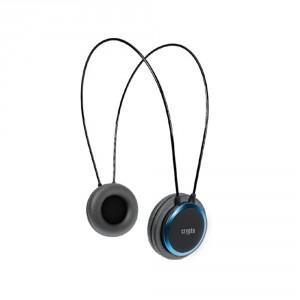 CRYPTO HEADPHONE [HP-100 Black/Blue]  On-Ear Close