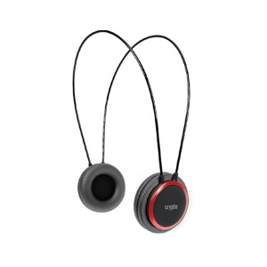CRYPTO HEADPHONE [HP-100 Black/Red]  On-Ear Close