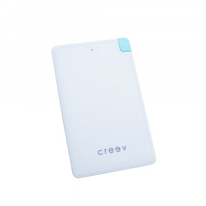 CREEV POWERBANK [PB-22 WHITE]  2200mAh 5V/0.8A with embedded cable and iphone adapter