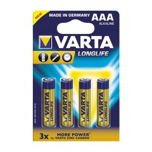 VARTA 4103 συσκ. 4 AΛΚΑΛΙΚΗ LONGLIFE AAA 4103101414