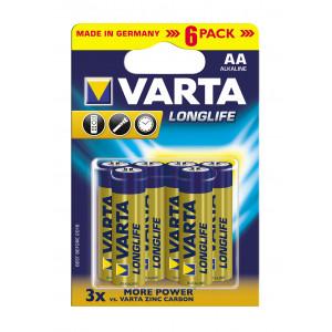 VARTA 4106 συσκ.6 AΛΚΑΛΙΚΗ LONGLIFE AA 4106101436