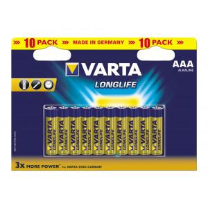 VARTA 4103 συσκ.10 AΛΚΑΛΙΚΗ LONGLIFE AAA 4103101461