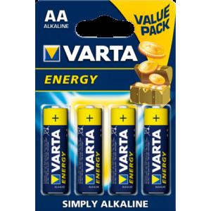 VARTA 4106 συσκ.4 AΛΚΑΛΙΚΗ ENERGY AA 4106229414