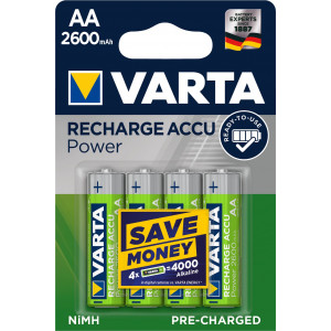 VARTA 05716 2600mAh συσκ.4 101404 Recharge Accu Power 4AA 5716101404