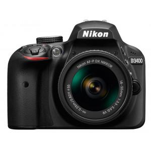 NIKON D3400 + AF-P 18-55VR KIT BLACK + Τσαντα Ωμου DSLR Nikon VBA490K001