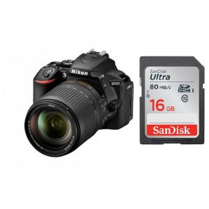 NIKON D5600 + AF-S 18-140 VR + SanDisk SD Ultra 16GB 80MB/s Class 10 VBA500K002