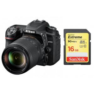 NIKON D7500 + AF-S DX NIKKOR 18-140 VR Black + SanDisk SD Extreme 16GB