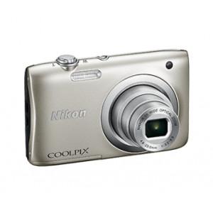 NIKON Coolpix A100 Silver + θηκη Nikon (Καφε) VNA970E1