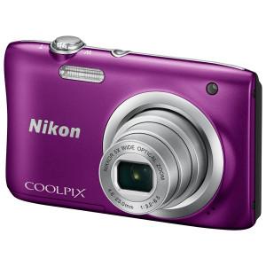 NIKON Coolpix A100 Purple + θηκη Nikon (Καφε) VNA973E1