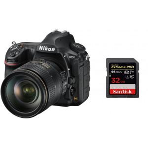 NIKON D850 + 24-120mm 4G ED VR Kit + SanDisk SD Extreme Pro 32GB 95MB/s V30 UHS-I U3 VBA520K001