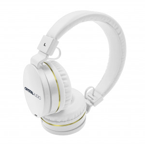 CRYSTAL AUDIO OE-01-WH WHITE-GOLD OVER-EAR HEADPHONES OE-01-WH