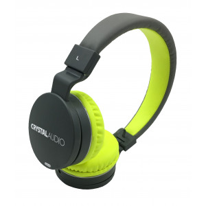 CRYSTAL AUDIO OE-01-YG YELLOW-GREY OVER-EAR HEADPHONES OE-01-YG