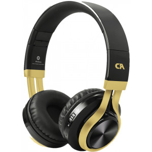 CRYSTAL BT-01-KG BLUETOOTH BLACK-GOLD OVER-EAR HEADPHONES BT-01-KG
