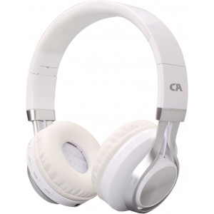 CRYSTAL BT-01-WH BLUETOOTH WHITE-SILVER OVER-EAR HEADPHONES BT-01-WH