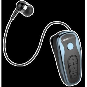 CRYSTAL AUDIO R1-B BLUE BLUETOOTH RETRACTABLE EARPHONES R1-B