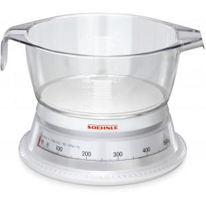 SOEHNLE 65418 KSC VARIO WHITE/GLASS-CLEAR 65418