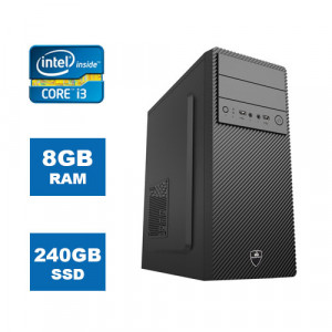POWERTECH PC DMPC-0020 Intel Core i3-8100, DDR4 8GB, 240GB SSD, DVD-RW DMPC-0020
