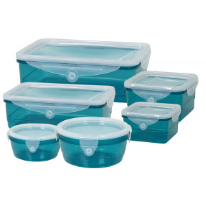 GENIUS IDEAS σετ δοχείων τροφίμων CleverBox 023070, 6 μεγέθη, μπλε 023070