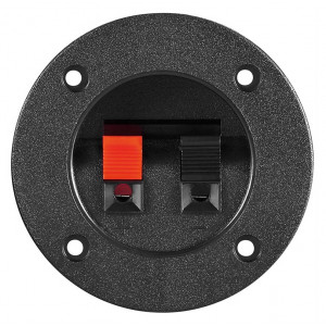 GOOBAY τερματικό ηχείου 11253, 2 poles 4mm, στρογγυλό, μαύρο, 10τμχ 11253