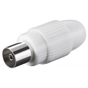GOOBAY βύσμα coaxial 11501, θηλυκό, λευκό, 10τμχ 11501