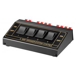 GOOBAY switch 4 σετ ηχείων 11934, έως 200W, μαύρο 11934