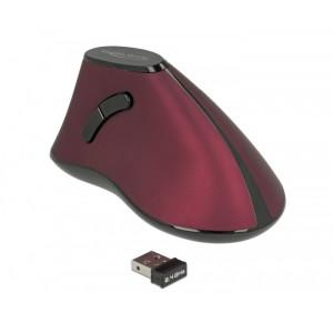 DELOCK Εργονομικο Vertical Mouse, Οπτικο, ασυρματο, 5 buttons 12528