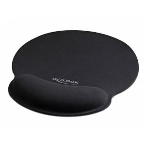 DELOCK Mousepad 12559 με στήριγμα καρπού, 252 x 227mm, μαύρο 12559