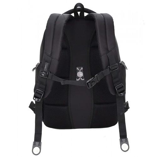 ARCTIC HUNTER τσάντα πλάτης 1500161-BK, laptop, αδιάβροχη, μαύρη 1500161-BK