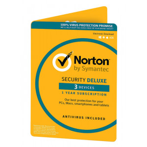 NORTON Security Deluxe 3.0, (3 Άδειες, 1 έτος), EU 21366068