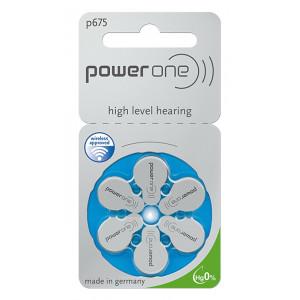 POWER ONE μπαταρίες ακουστικών βαρηκοΐας P675, mercury free, 1.45V, 6τμχ 24600