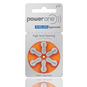 POWER ONE μπαταρίες ακουστικών βαρηκοΐας P13, mercury free, 1.45V, 6τμχ 24606