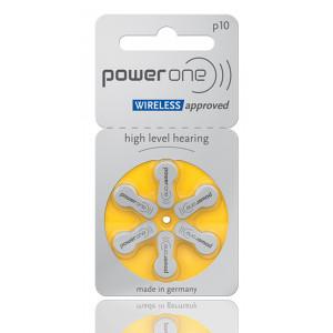 POWER ONE μπαταρίες ακουστικών βαρηκοΐας P10, mercury free, 1.45V, 6τμχ 24610