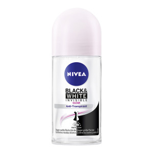 NIVEA αποσμητικό Roll-on Black & White Invisible Original, 50ml 4005900388636