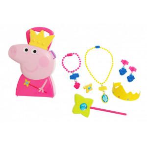JAMARA Βαλιτσάκι Peppa Pig πριγκίπισσα 410096, με κοσμήματα, 7τμχ 410096