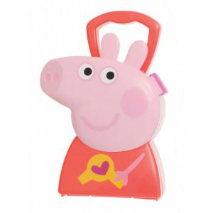 JAMARA Βαλιτσάκι Peppa Pig κομμώτρια 410097, με αξεσουάρ ομορφιάς, 6τμχ 410097